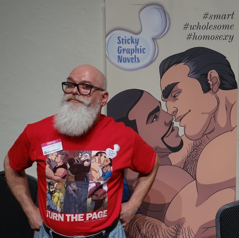 Dale Lazarov at Queer Comics Expo 2017